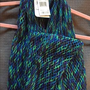 Blue/green/purple NWT sparkly infinity scarf